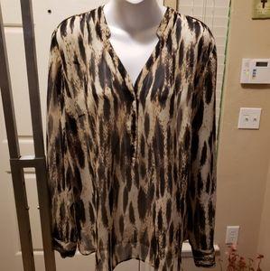 Ladies sheer  A.N.A. blouse
